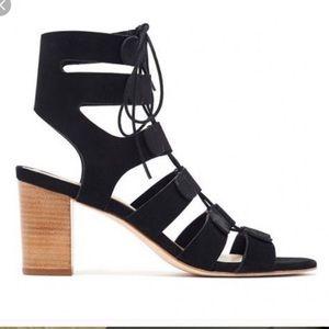 Loeffler Randall black lace up heels